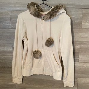 Juicy Couture Winter Faux Fur And Velour Hoodie